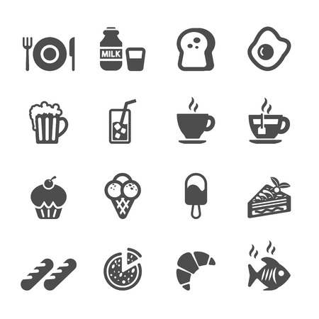 cone cake cone: food and drink icon set, vector eps10.