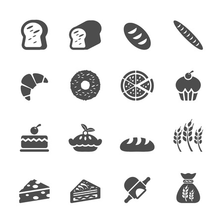 bakery icon set, vector eps10. Vector
