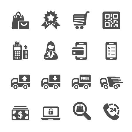shopping icon set 9, vector eps10. Vector