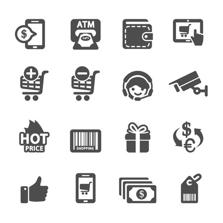 dispense: shopping icon set 3, vector eps10. Illustration