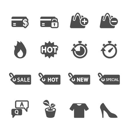 shopping icon set 5, vector eps10. Vector