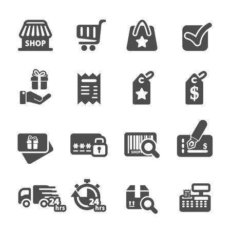 shopping icon set 6, vector eps10. Vector