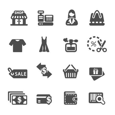 shopping icon set 7, vector eps10. Vector