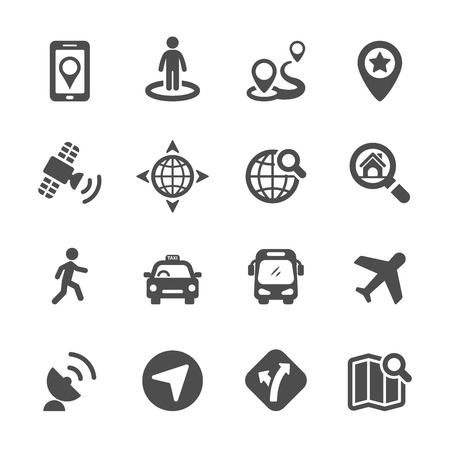 map icon set 3, vector eps10. Vector