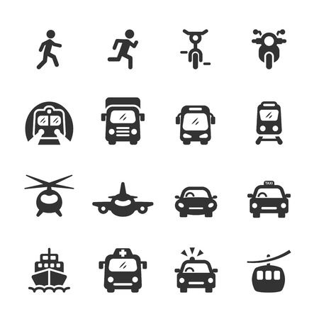 from the front: transportation and vehicles icon set 5, vector eps 10.