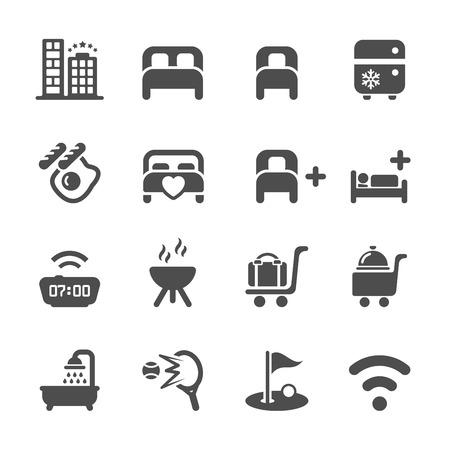 hotel icon: hotel service icon set 10, vector eps10.