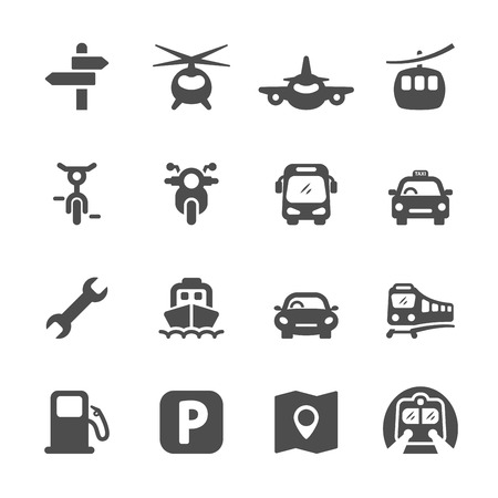transportation icon set 2, vector