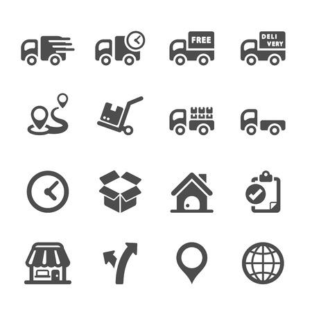 logistieke icon set 2, vector Stock Illustratie