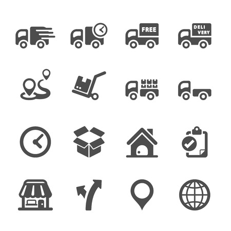 logistic icon set 2, vector