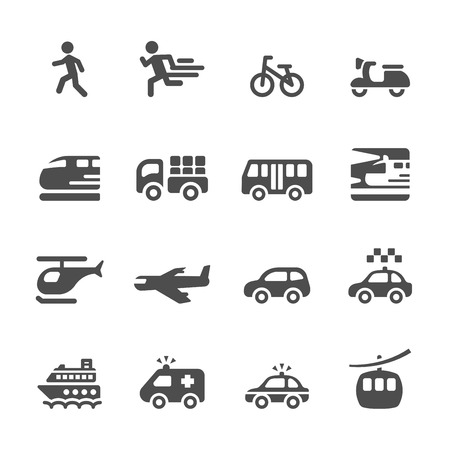 transportation and vehicles icon set 6, vector eps 10. Vector