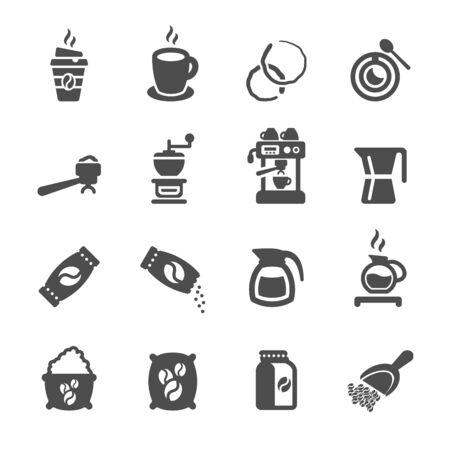 espresso machine: coffee icon set 2, vector eps10.