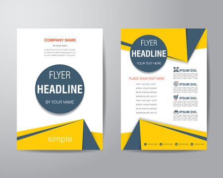 corporativo: Triángulo y el círculo simple folleto folleto plantilla de diseño de diseño de tamaño A4, vector eps10. Vectores