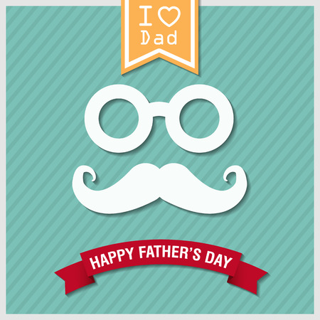 green day: happy fathers day vintage retro style background, vector eps10. Illustration