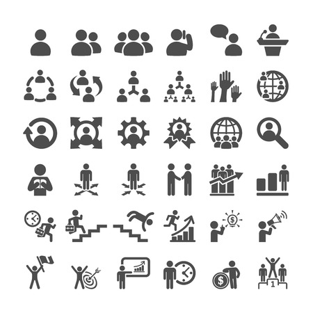 business icon set, vector