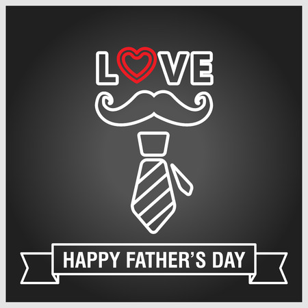 happy fathers day vintage retro style background, vector  Illustration