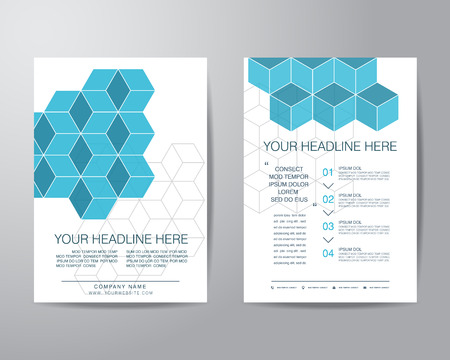 layout design template: simple box brochure flyer design layout template in A4 size