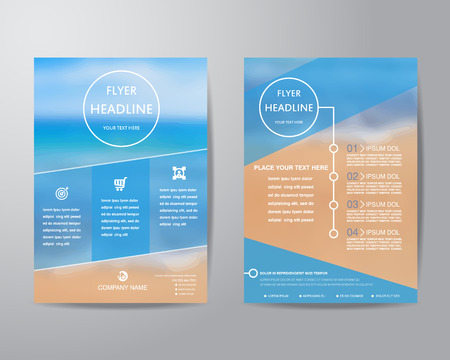 brochure template: Abstract triangle brochure flyer design layout template in A4 size,