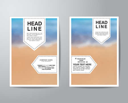 bleed: tag and blur background brochure flyer design layout template in A4 size, with bleed, vector eps10.