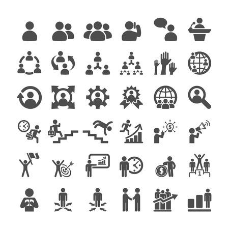gestion del tiempo: conjunto de iconos de negocios, vector eps10.