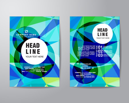 bleed: polygon brochure flyer design layout template in A4 size, with bleed, vector eps10.