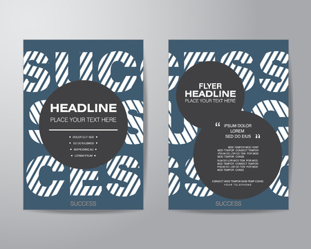 simple circle brochure flyer design layout template in A4 size, with bleed, vector eps10.