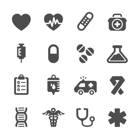 doctor symbol: medical icon set, vector eps10. Illustration