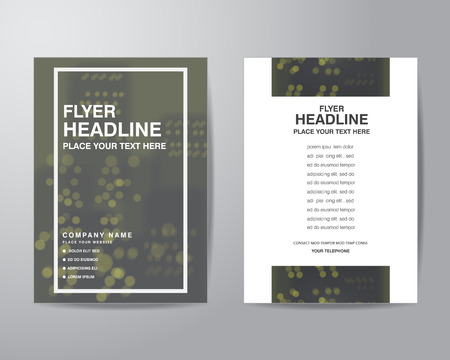 bleed: simple blur background brochure flyer design layout template in A4 size, with bleed, vector eps10.