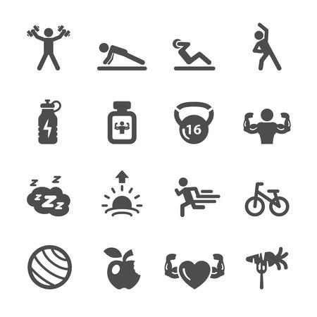 sit ups: fitness icon set 2, vector  Illustration