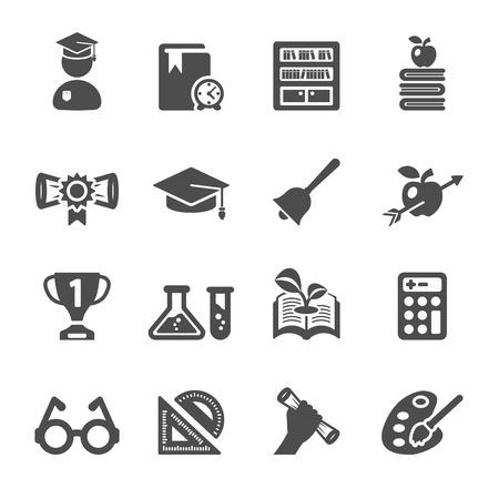 education icon set 2, vector