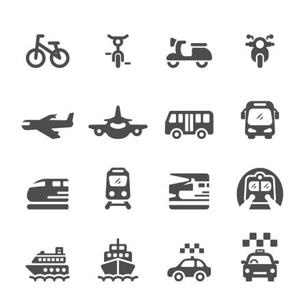 transportation and vehicles icon set, vector eps 10.