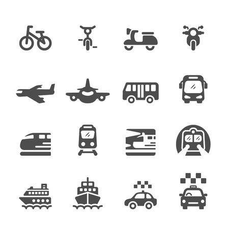 iconos: transporte y veh�culos conjunto de iconos, vector eps 10. Vectores