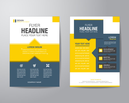 business brochure flyer design layout template in A4 size, with bleed, vector eps10.