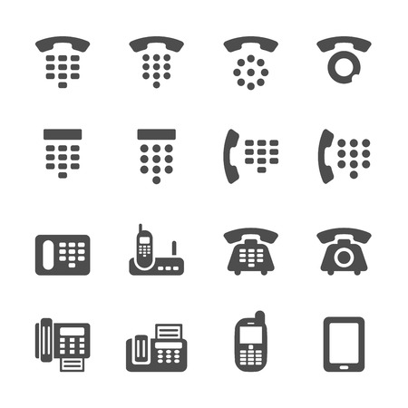 fax: phone and fax icon set, vector eps10.