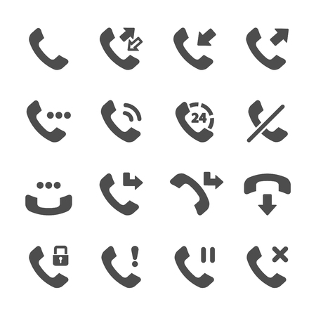 miss call: telephone call icon set, vector .
