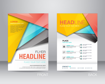 flyer: corporate brochure flyer design layout template in A4 size, with bleed, vector eps10.