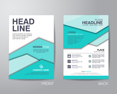 corporate brochure flyer design layout template in A4 size, with bleed, vector eps10. Banco de Imagens - 42922118
