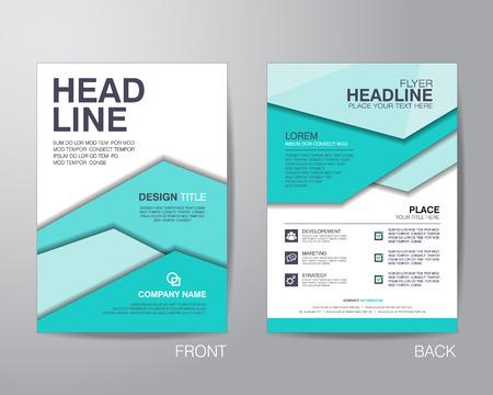 Flyer folleto plantilla corporativa diseño de diseño de tamaño A4, con sangrado, vector eps10. Foto de archivo - 42922118
