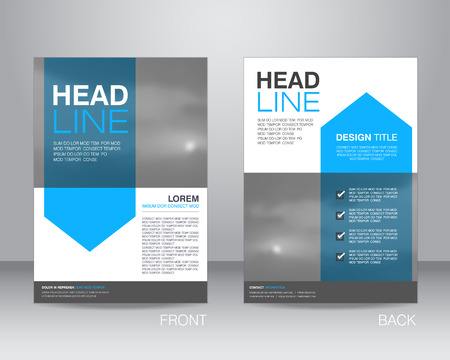 headline: corporate brochure flyer design layout template in A4 size, with bleed, vector eps10.