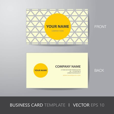 bleed: business card triangle abstract background design layout template, with bleed, vector eps10. Illustration