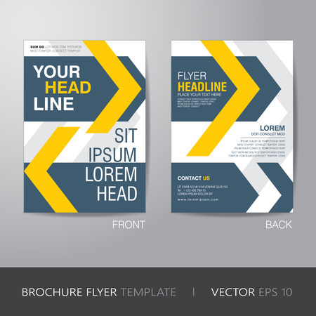 sangrar: corporate brochure flyer design layout template in A4 size, with bleed  Vectores