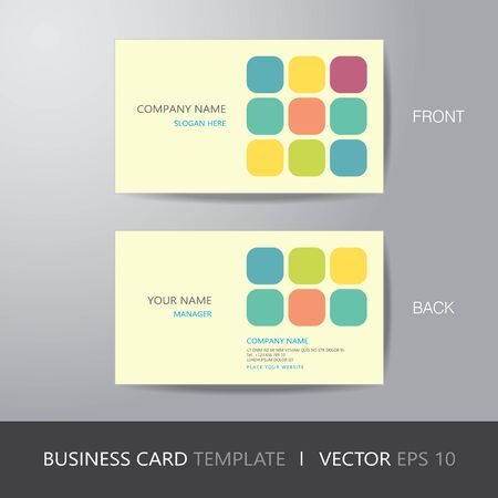 bleed: business card square abstract background design layout template, with bleed  Illustration