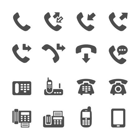 hangup: telephone call icon set 4, vector eps10. Illustration