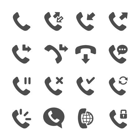 call log: telephone call icon set 3
