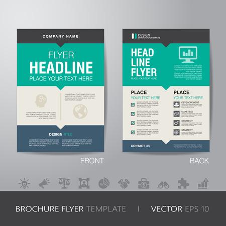 folleto: flyer folleto plantilla corporativa diseño de diseño de tamaño A4, con sangrado, vector eps10.