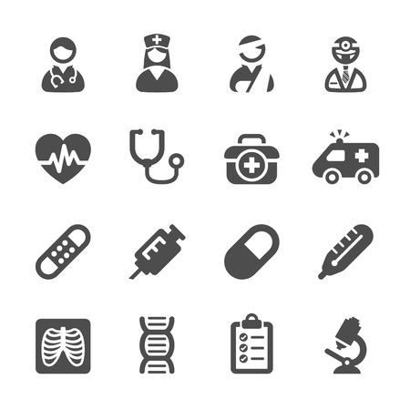 egészségügyi: orvosi icon set