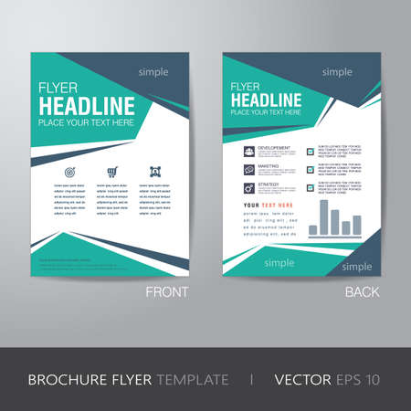 blank brochure: corporate brochure flyer design layout template in A4 size, with bleed  Illustration