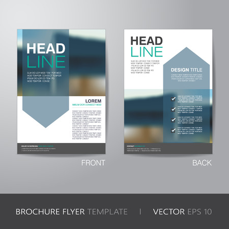 corporate brochure flyer design layout template in A4 size, with bleed, vector 版權商用圖片 - 43580890