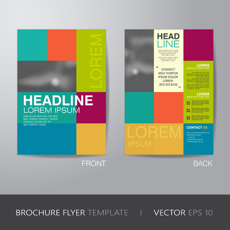 bleed: corporate brochure flyer design layout template in A4 size, with bleed,
