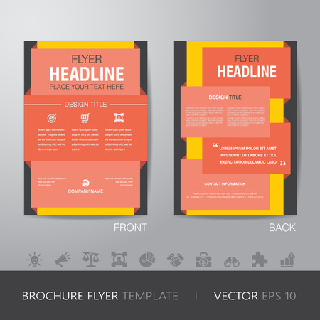 bleed: corporate brochure flyer design layout template in A4 size, with bleed  Illustration