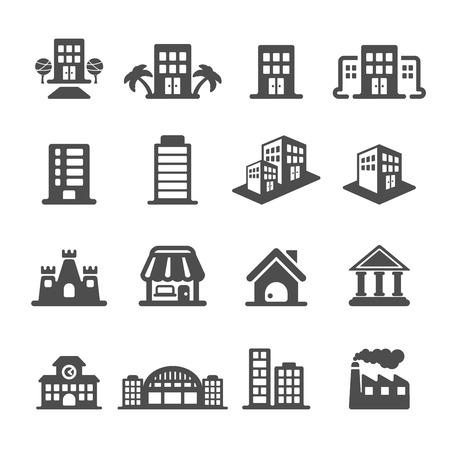 gebouw icon set, vectoreps10.